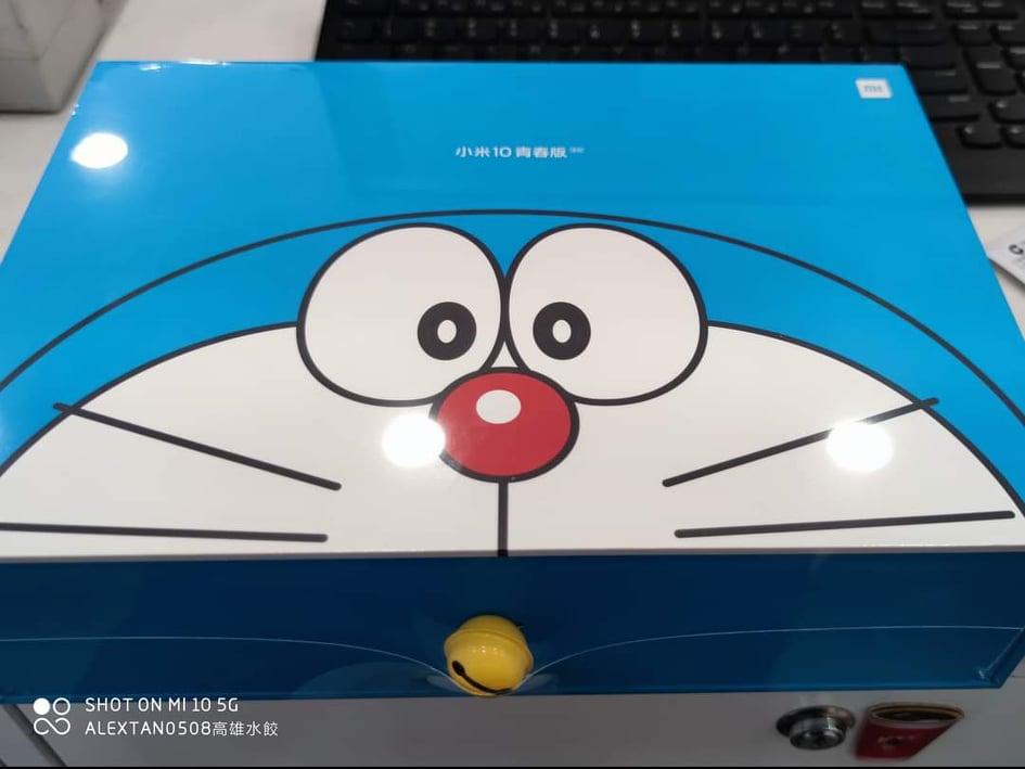 Mi 10 Youth Doraemon Limited Edition's box.