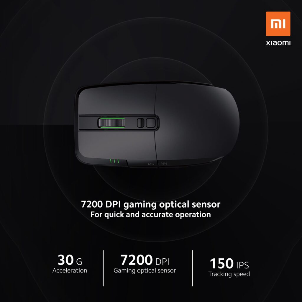 Mi Gaming Mouse support 7200 Gaming Optical Sensor