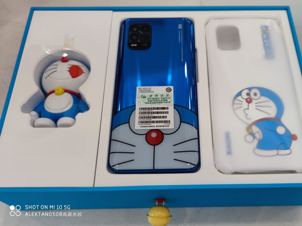 Mi 10 Youth Doraemon Limited Edition's package inclusion. Photo is credited to Alex Tan Yun Kai
