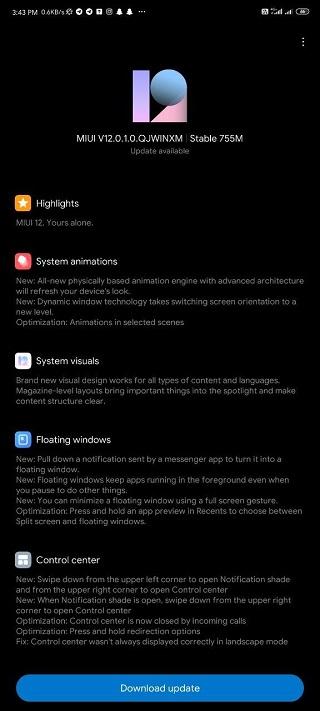 Redmi Note 9 Pro India Variant Received MIUI 12