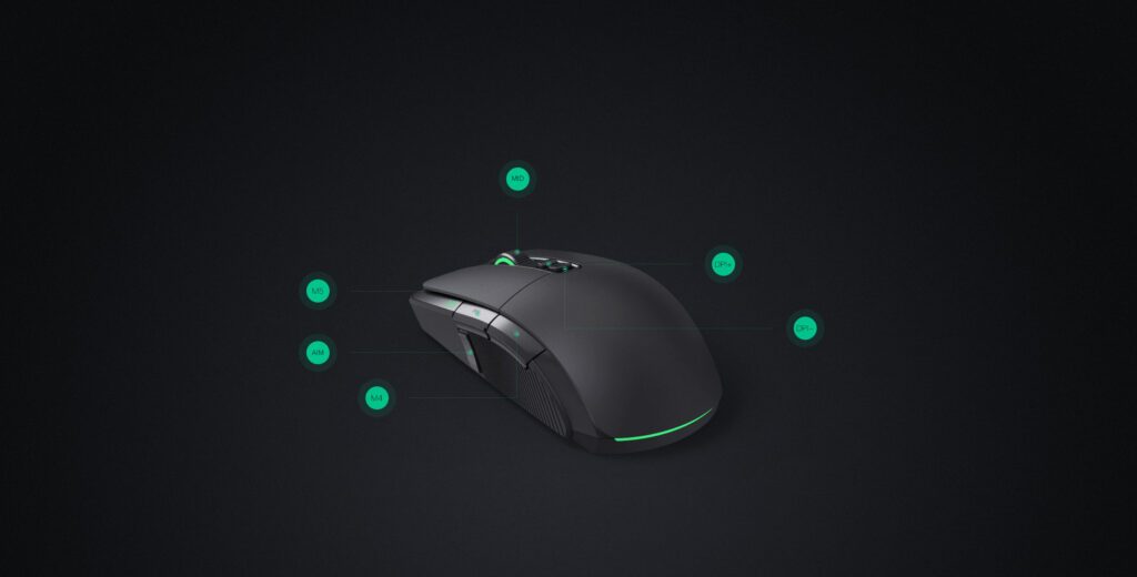 Mi Gaming Mouse support 6 keys that can be customized