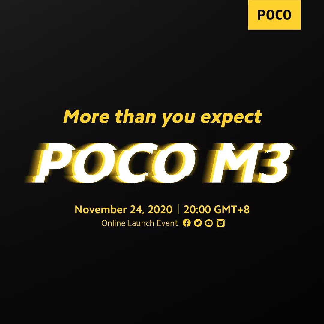 POCO M3 will launch on November 24, 2020