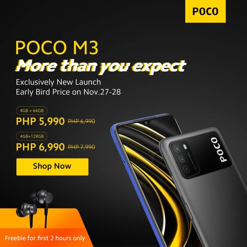 POCO M3 is the new king of entry-level for only ₱6,990