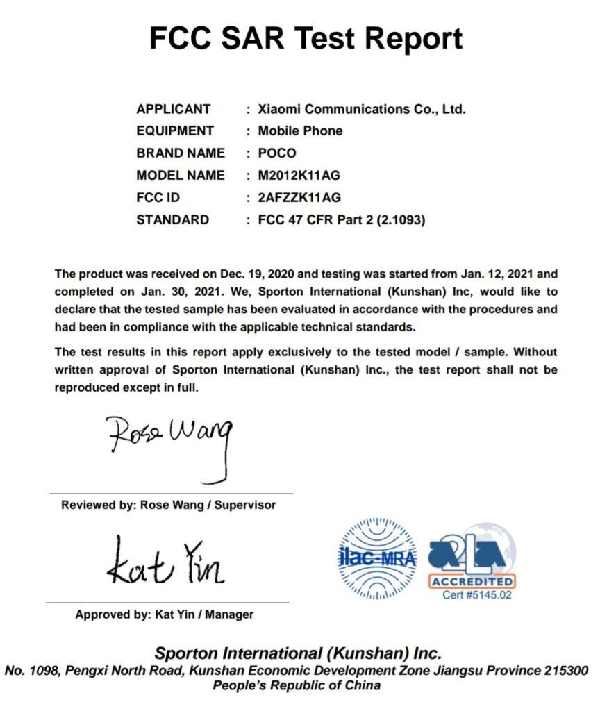 Redmi K40 as POCO F3 confirmed by FCC
