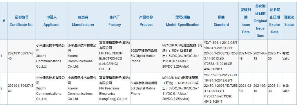 Mi 11 Pro, Mi 11 Ultra to support up to 67.1W