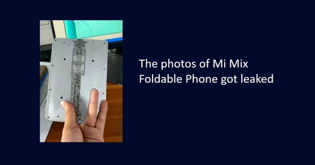 Mi Mix Foldable Phone live photos got leaked