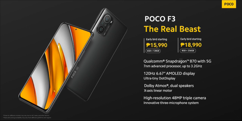 POCO F3 is now live with a 15,990 price tag for early bird