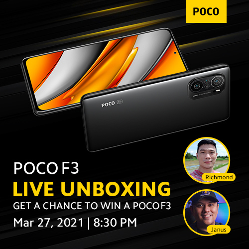 POCO F3 Live Unboxing with Xiaomi Review and Pinoy Techdad. WIN Your own Poco F3!