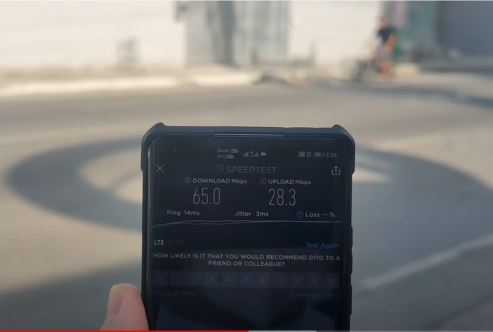 POCO X3 Pro speed test using DITO sim in Metro Manila