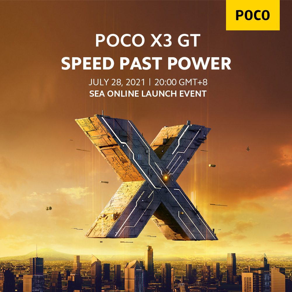 POCO X3 GT to arrive on July 28th, 8:00 PM